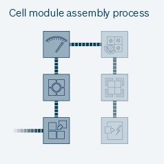 Cell module assembly process
