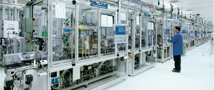 Bosch Rexroth factory automated workflow for assembly equipment