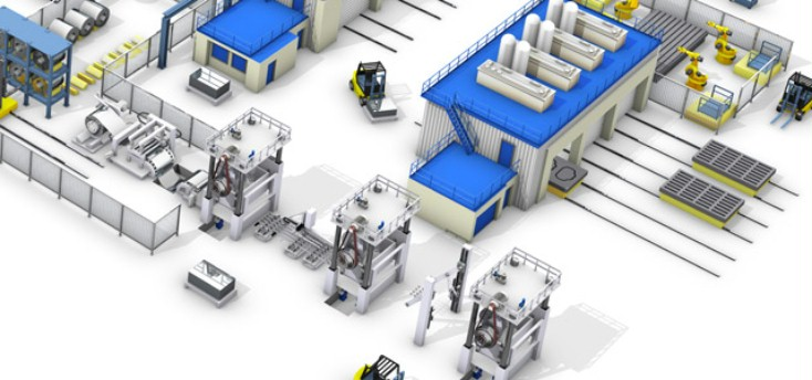 Overview of a Rexroth equipped factory