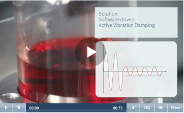 Software driven active vibration damping