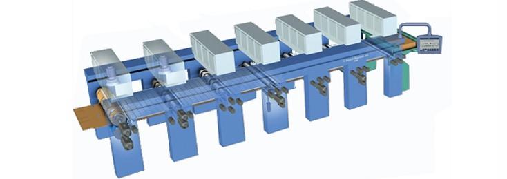 Example of a corrugated board machine printing machine