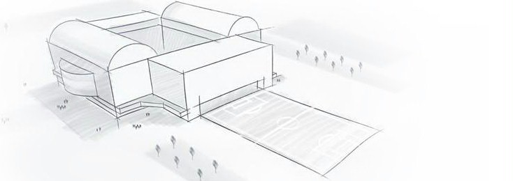 Sketch of the GelreDome in Arnhem