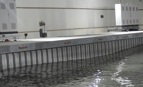 Coastal engineering wave generator basin