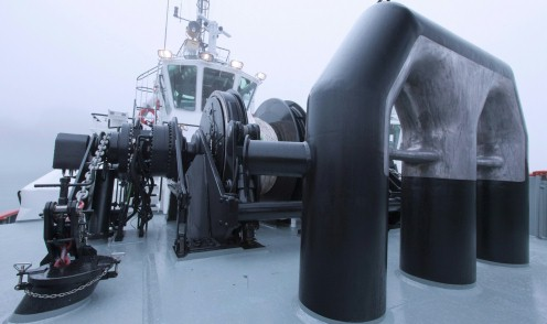 A winch system / windlass on board of a ship, simply used to wind up or wind out cables of wires, is essential in various areas of applications.