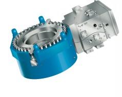 Large hydraulic automatic gauge control cylinder