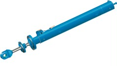 Large hydraulic bottom outlet cylinder
