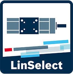 Icon for the selection and sizing tool LinSelect