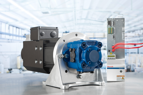 Rexroth Sytronix – energy-efficient hydraulics with variable-speed pump drives.