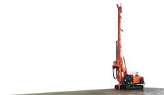 Electronification for a hydraulic piling machine