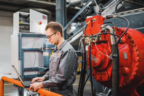 KRAIBURG uses ODiN (Online Diagnostics Network) predictive maintenance to carry out maintenance work before a downtime occurs.