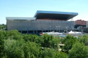 The Caja Magica stadium in Madrid